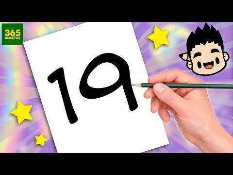 Como dibujar a partir del número 19