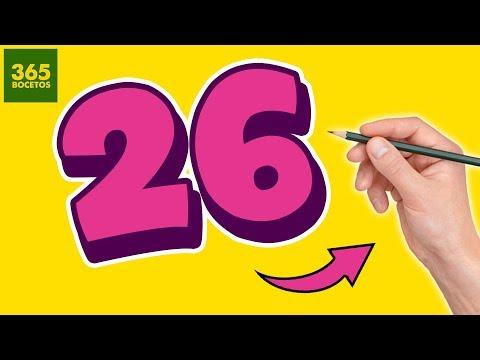 Como dibujar a partir del número 26