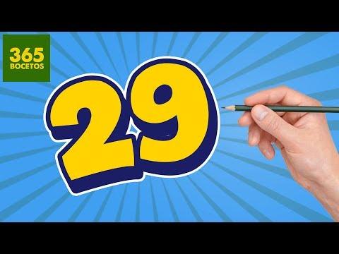 Como dibujar a partir del número 29