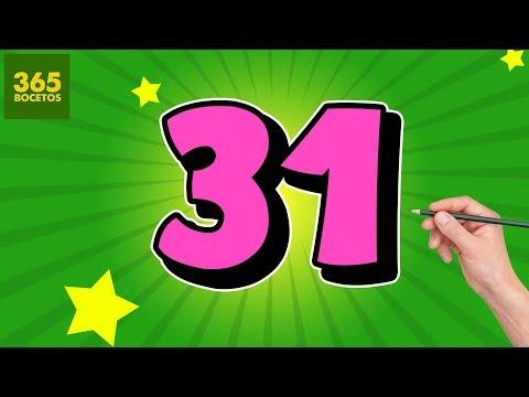 Como dibujar a partir del número 31