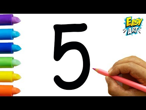 Como dibujar a partir del número 5 fácil