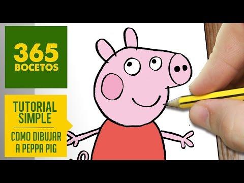 Como dibujar a Peppa Pig fácil