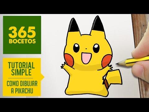Como dibujar a Pikachu contento