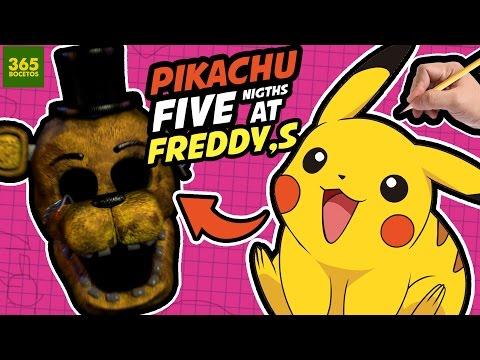 Como dibujar a Pikachu estilo FNAF
