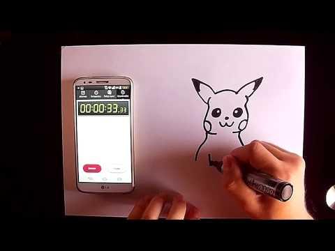 Cómo dibujar a Pikachu rápido
