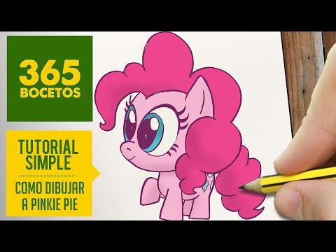 Como dibujar a Pinkie Pie de My Little Pony