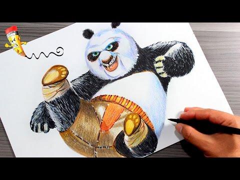 Como dibujar a Po de Kung Fu Panda 3