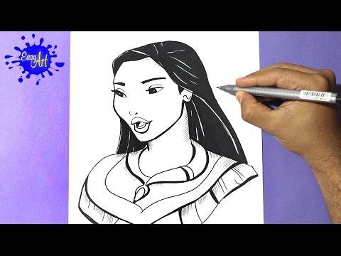Como dibujar a Pocahontas