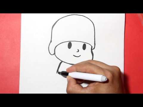 Como dibujar a Pocoyó