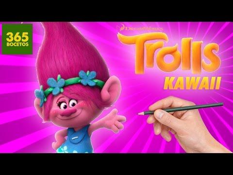 Como dibujar a Poppy de Trolls