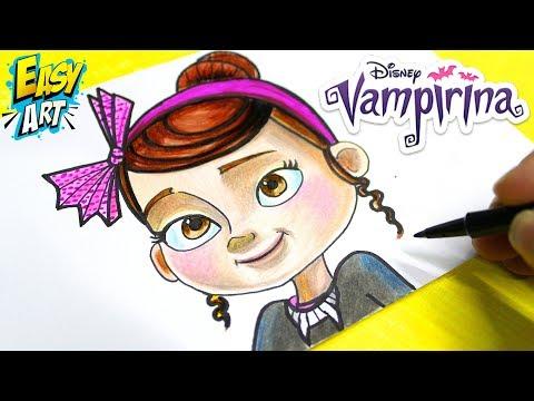 Como dibujar a Poppy de Vampirina