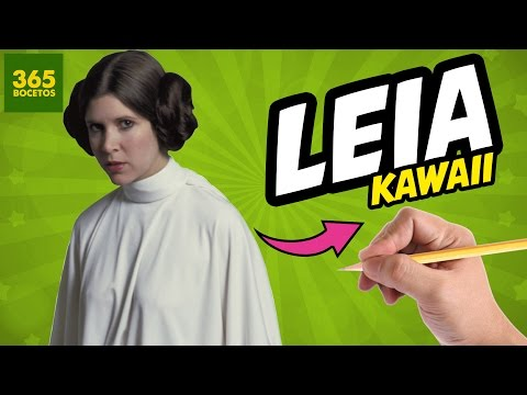 Como dibujar a Princesa Leia de Star Wars kawaii