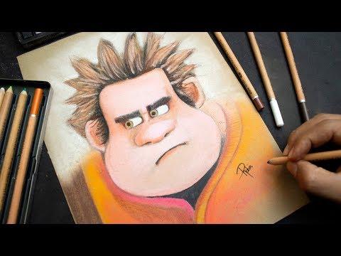 Como dibujar a Ralph de Ralph Rompe Internet