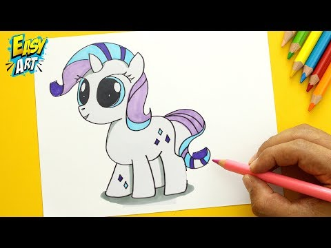 Como dibujar a Rarity de My Little Pony estilo CUTE