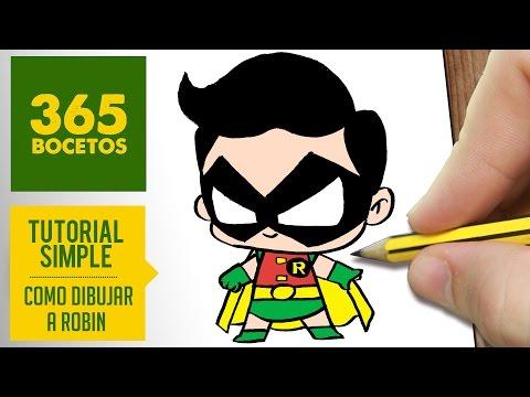 Como dibujar a Robin de Batman