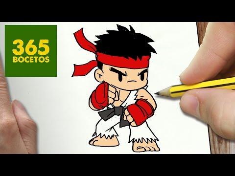 Como dibujar a Ryu de Street Fighter