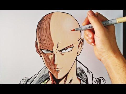 Como dibujar a Saitama de One-Punch Man paso a paso