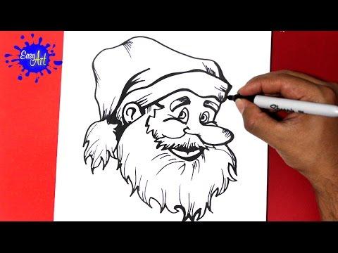 Como dibujar a Santa Claus para Navidad