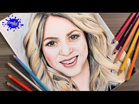 Como dibujar a Shakira realista
