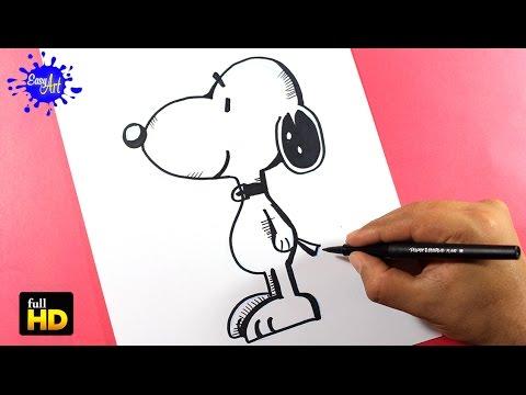 Como dibujar a Snoopy paso a paso