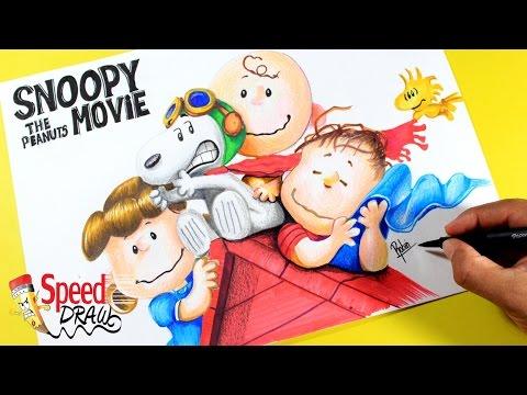 Como dibujar a Snoopy y sus amigos