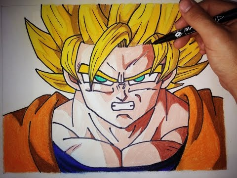 Como dibujar a Son Goku Super Saiyan