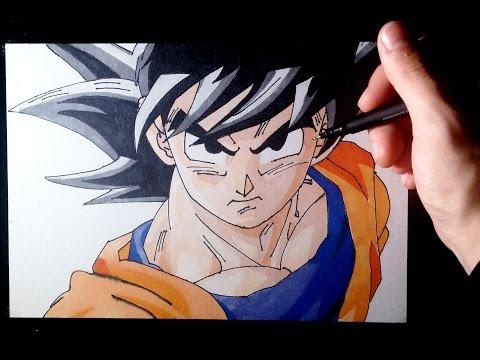 Como dibujar a Son Goku