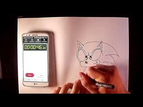 Como dibujar a Sonic en menos de 1 minuto