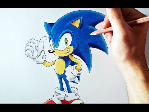 Como dibujar a Sonic