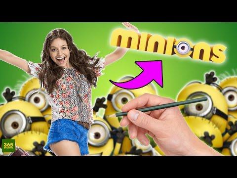 Como dibujar a Soy Luna estilo Minion
