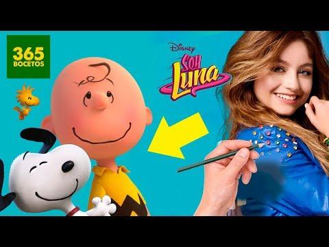 Como dibujar a Soy Luna estilo Snoopy