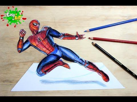 Como dibujar a Spiderman paso a paso