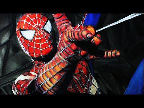 Como dibujar a Spiderman realista