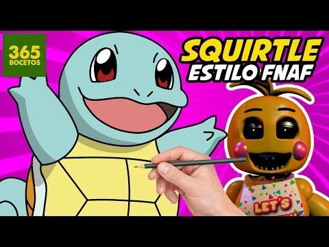 Como dibujar a Squirtle estilo FNAF