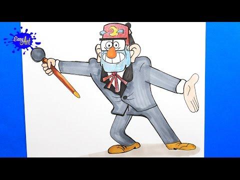 Como dibujar a Stan Pines de Gravity Falls