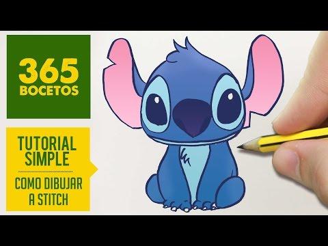 Como dibujar a Stitch