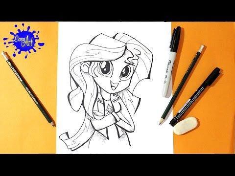 Como dibujar a Sunset Shimmer de Equestria Girl