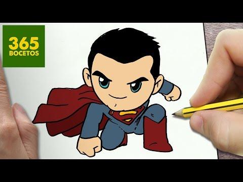 Como dibujar a Superman chibi