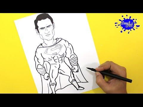 Como dibujar a Superman fácil