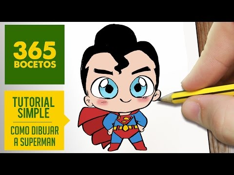 Como dibujar a Superman Kawaii