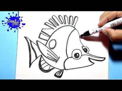 Como dibujar a Tad de Buscando a Nemo