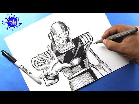 Como dibujar a Tagoma de Dragon Ball