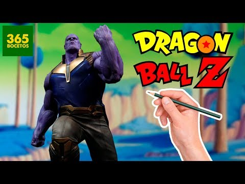 Como dibujar a Thanos estilo Dragon Ball Z