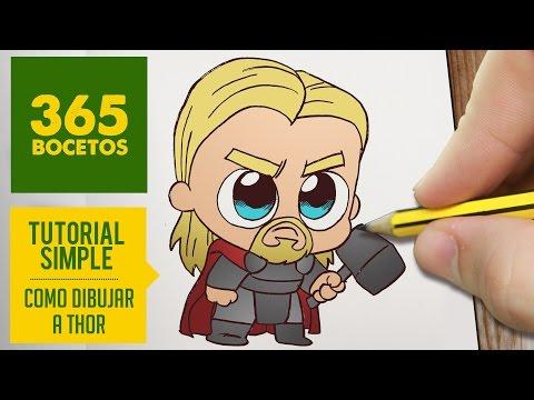 Como dibujar a Thor Kawaii