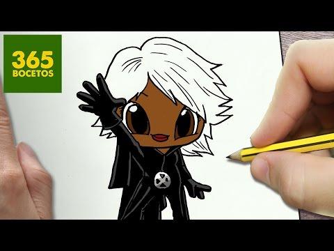 Como dibujar a Tormenta de X-Men