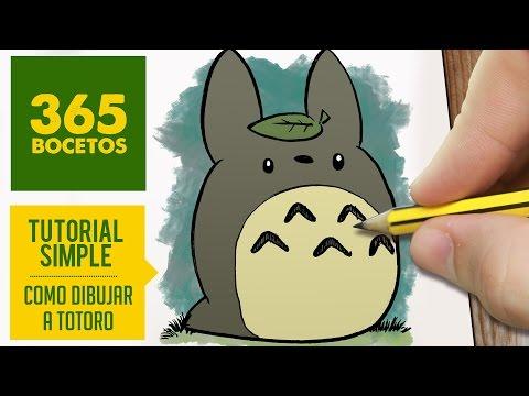 Como dibujar a Totoro fácil