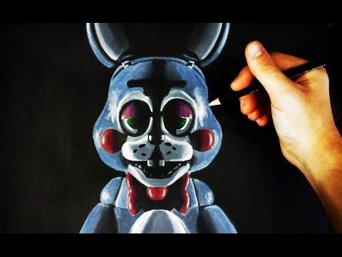 Como dibujar a Toy Bonnie de FNAF