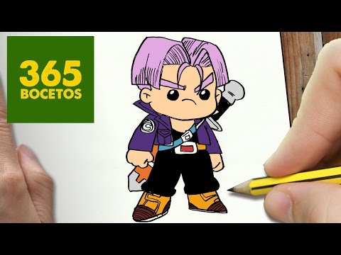 Como dibujar a Trunks de Dragon Ball Z kawaii