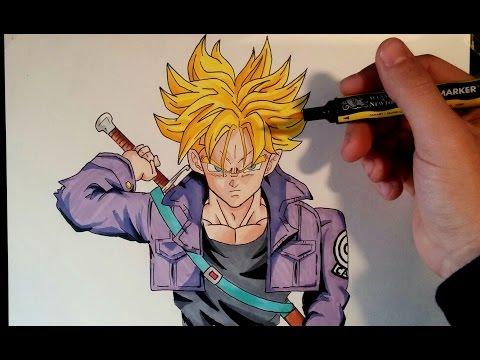 Como dibujar a Trunks Super Saiyan
