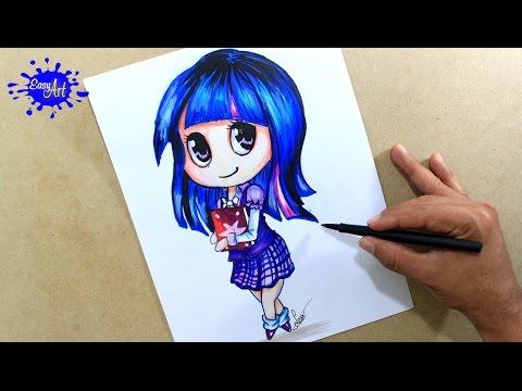Como dibujar a Twilight Sparkle de Equestria Girl
